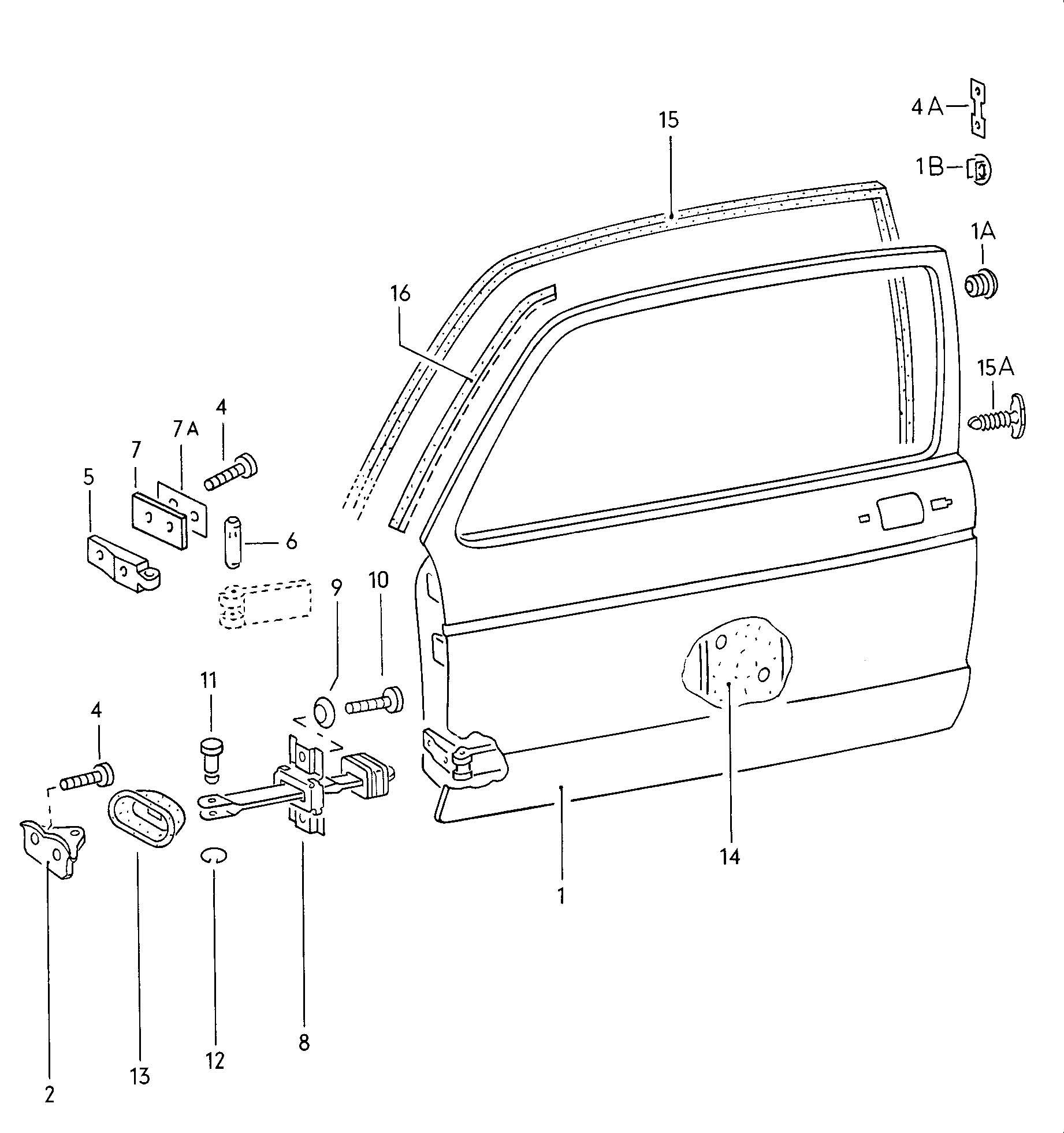 Volkswagen Rabbit Doors Door Hinge Door Seal Check Rod