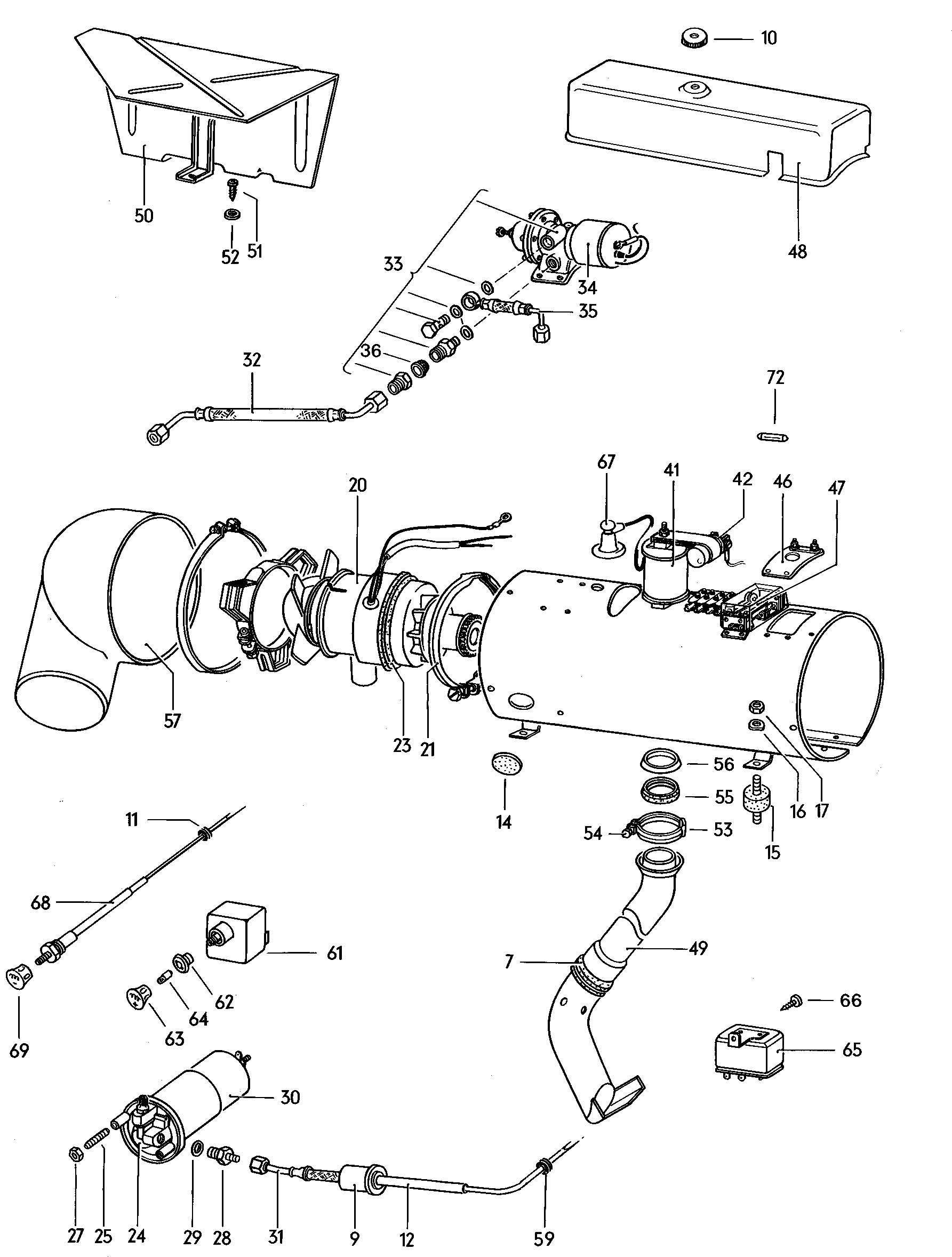 Volkswagen Thing Stationary Heater See Illustration