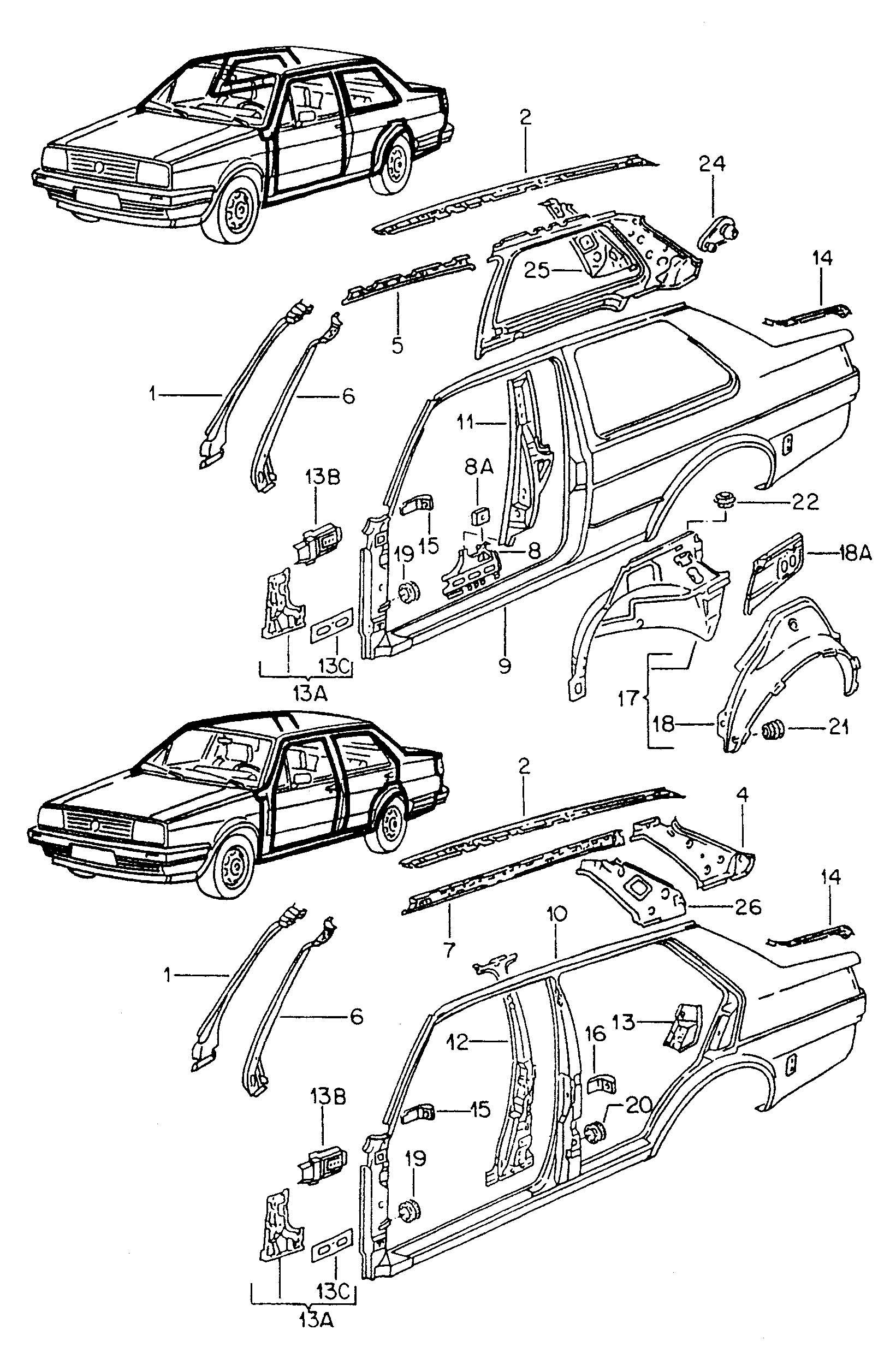 Volkswagen Golf Side Panel