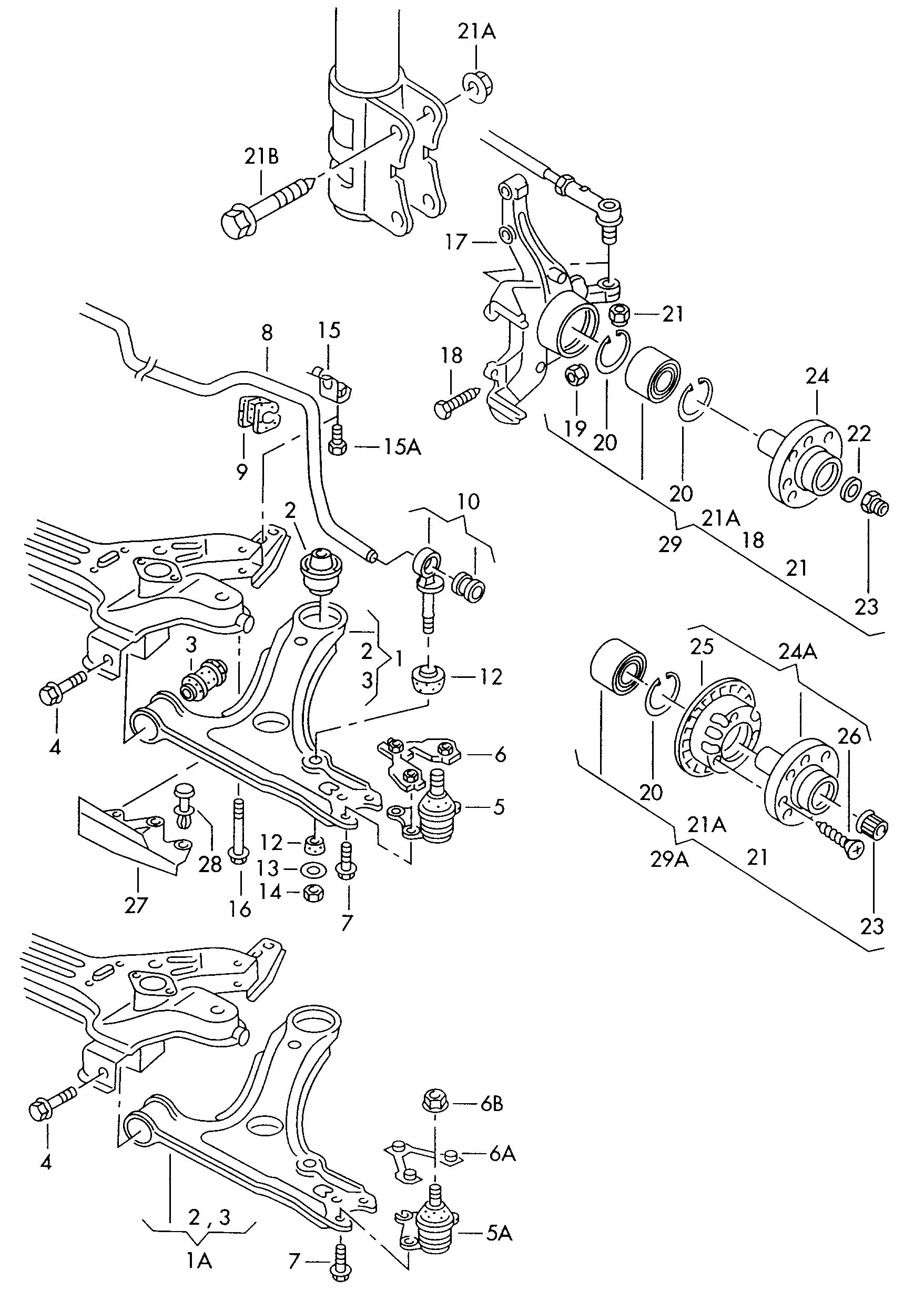 Volkswagen Vw Passat Syncro Track Control Arm Wheel