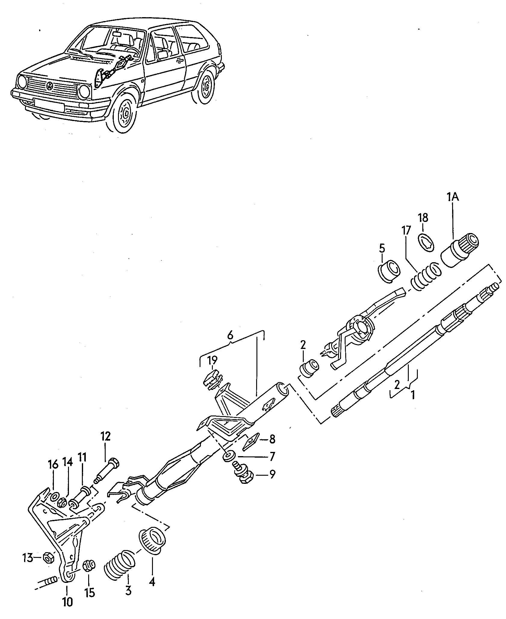 Volkswagen Jetta Steering Column Housing
