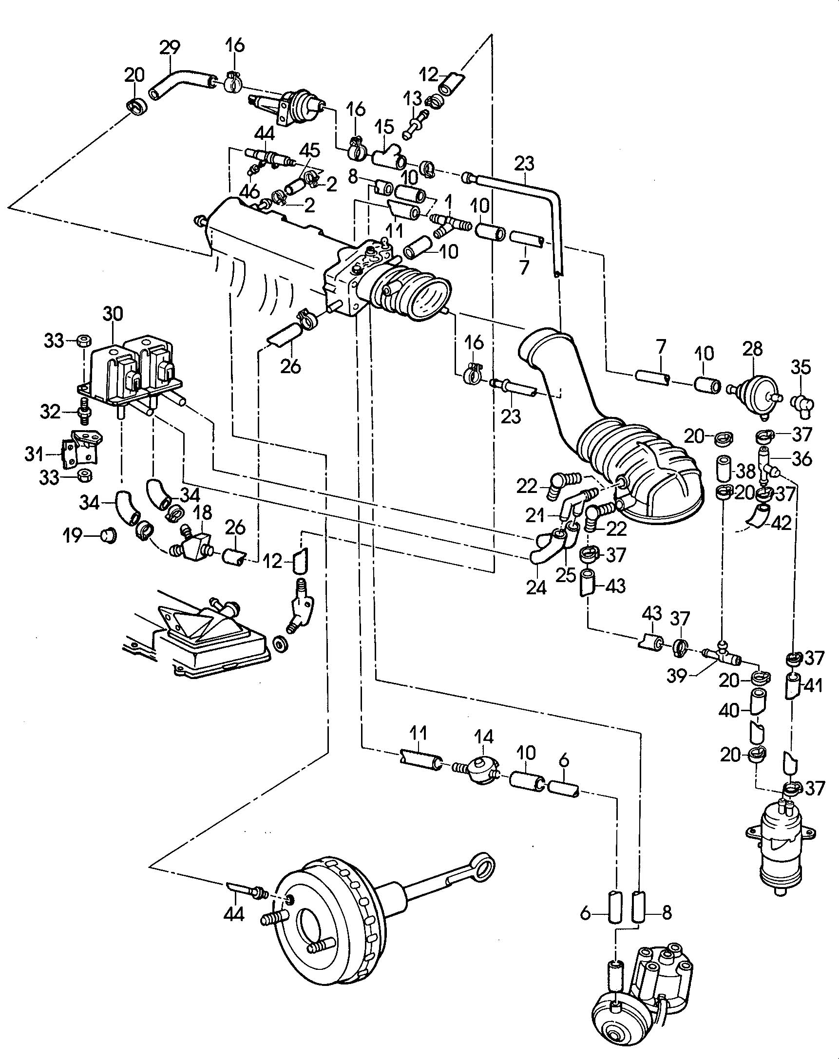 Volkswagen Golf 1 8l Ke Jetronic Vacuum System