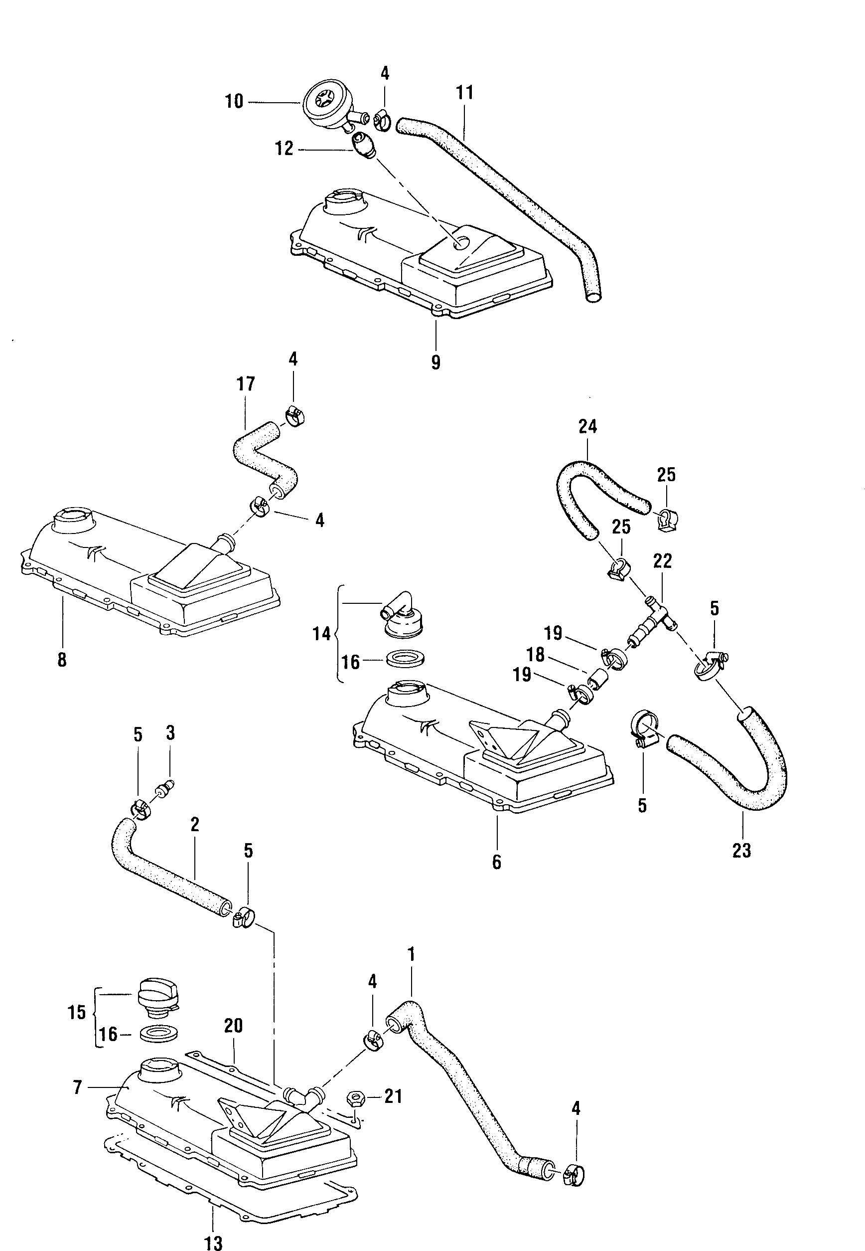 Volkswagen Rabbit Ventilation For Cylinder Head Cover