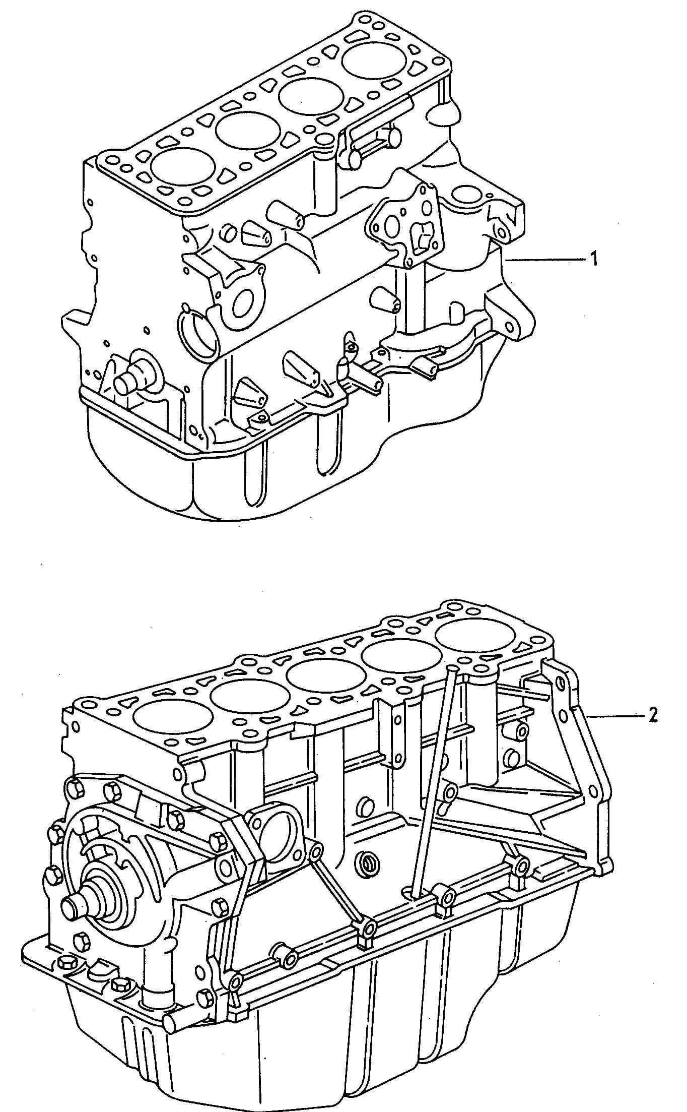Volkswagen Vw Golf Base Engine Without Distribu