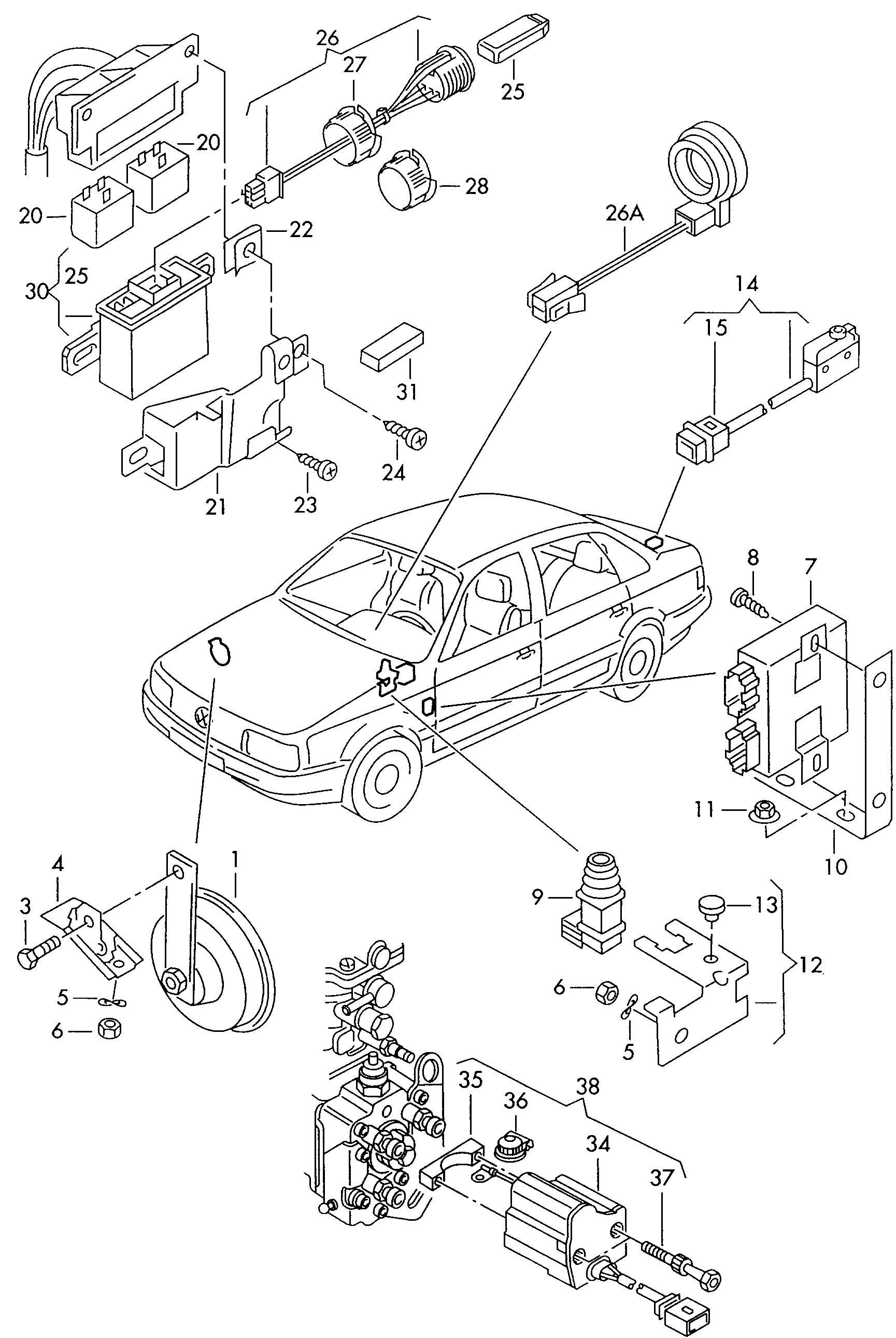 Volkswagen Passat Syncro Anti Theft Alarm System