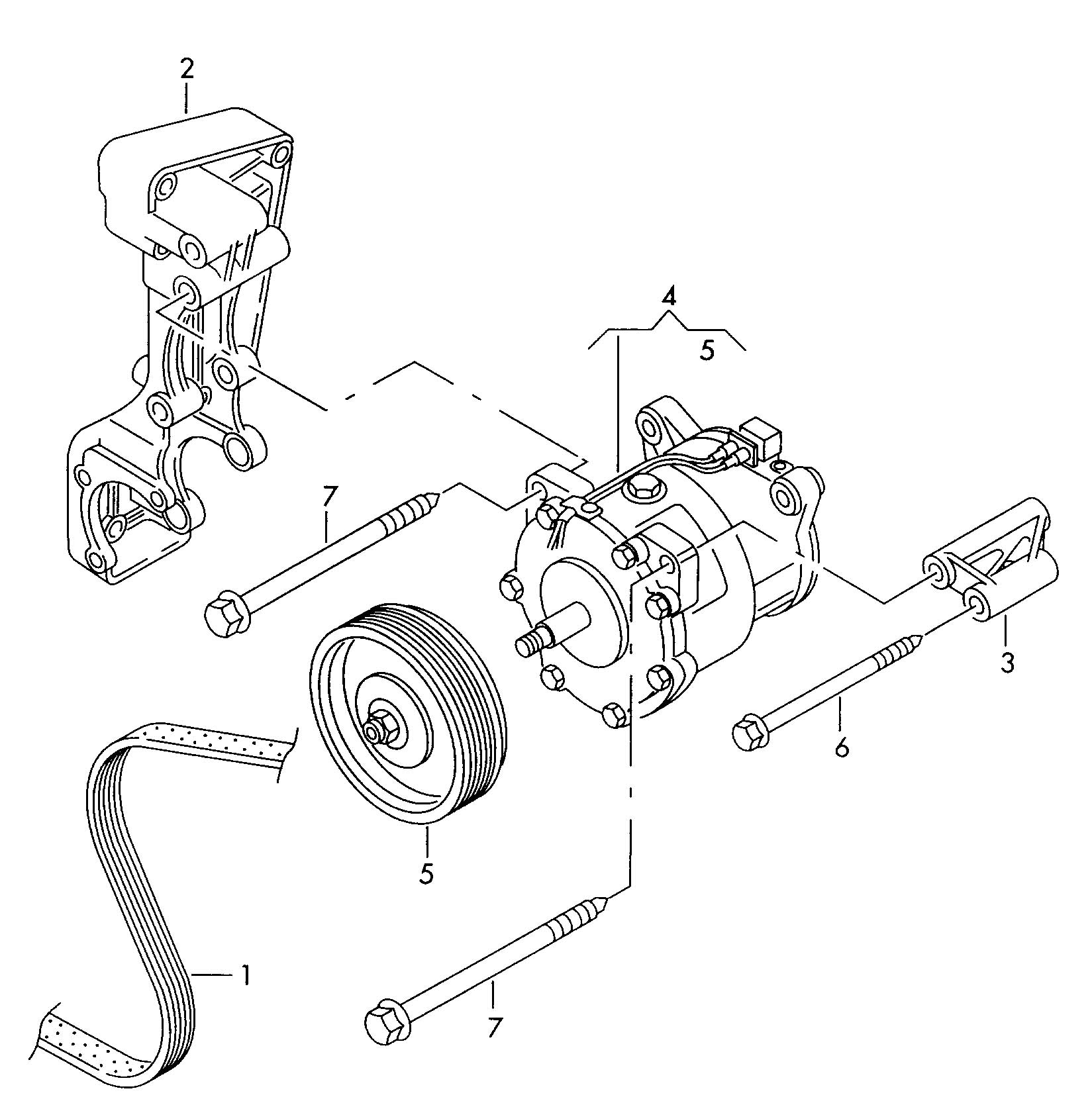 Volkswagen Eurovan Air Conditioner Compressor With Electro Magnetic Clutch Mounting Parts For