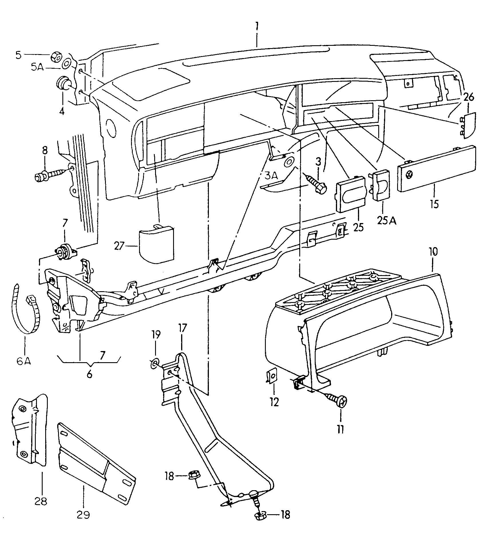 Volkswagen Cabrio Cabriolet Dashboard Dashboard
