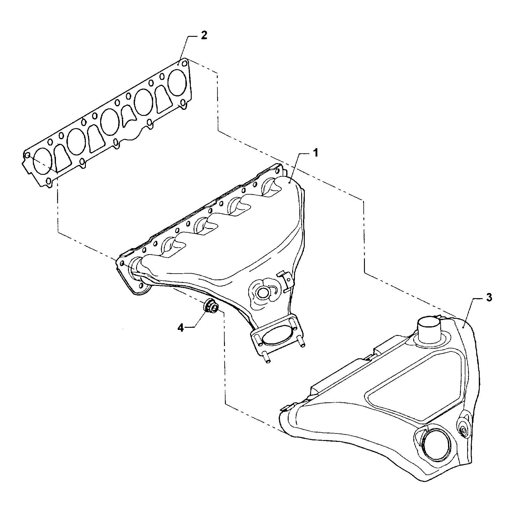 Volkswagen Rabbit Exhaust Manifold 2 5ltr