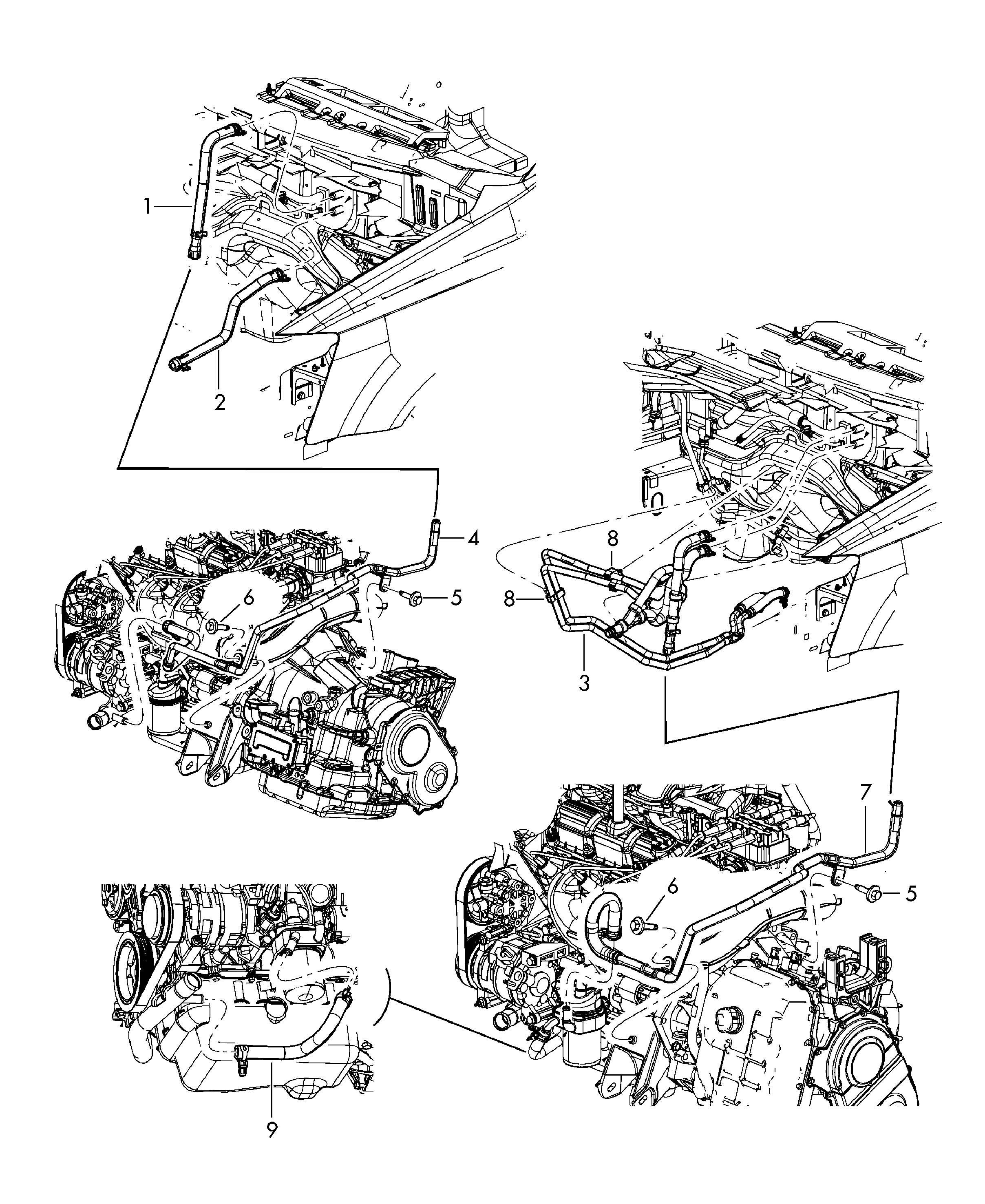 Volkswagen Vw Routan Heater Hose Heater Pipe 3 8ltr