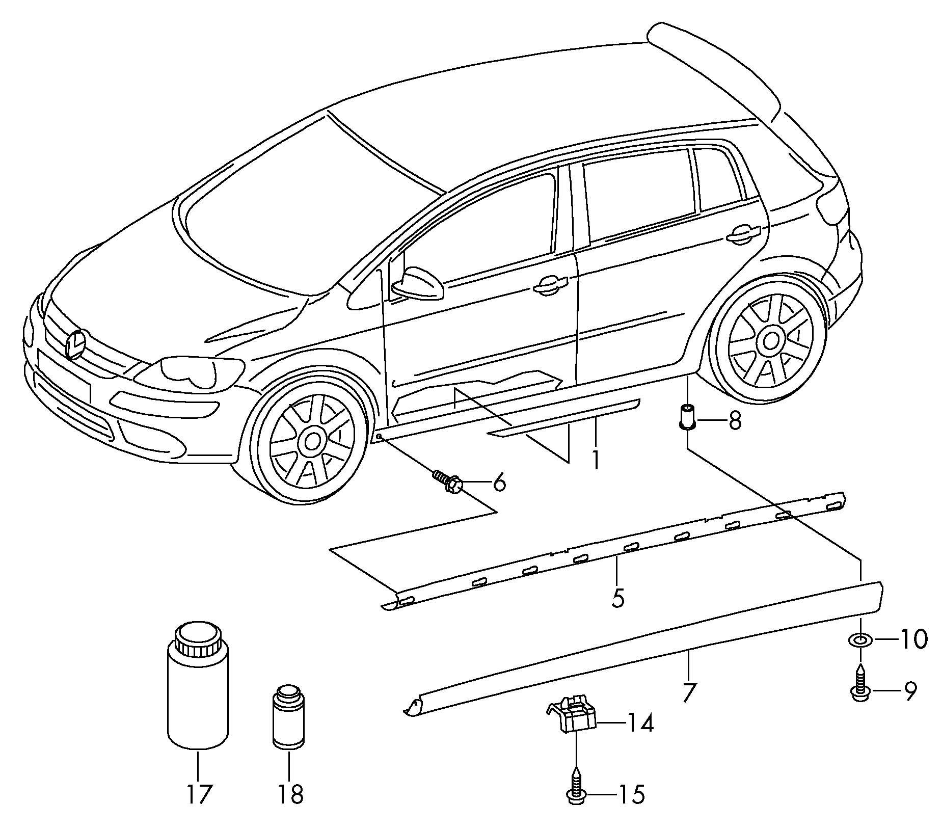 Volkswagen Golf Side Skirting Scuff Plate