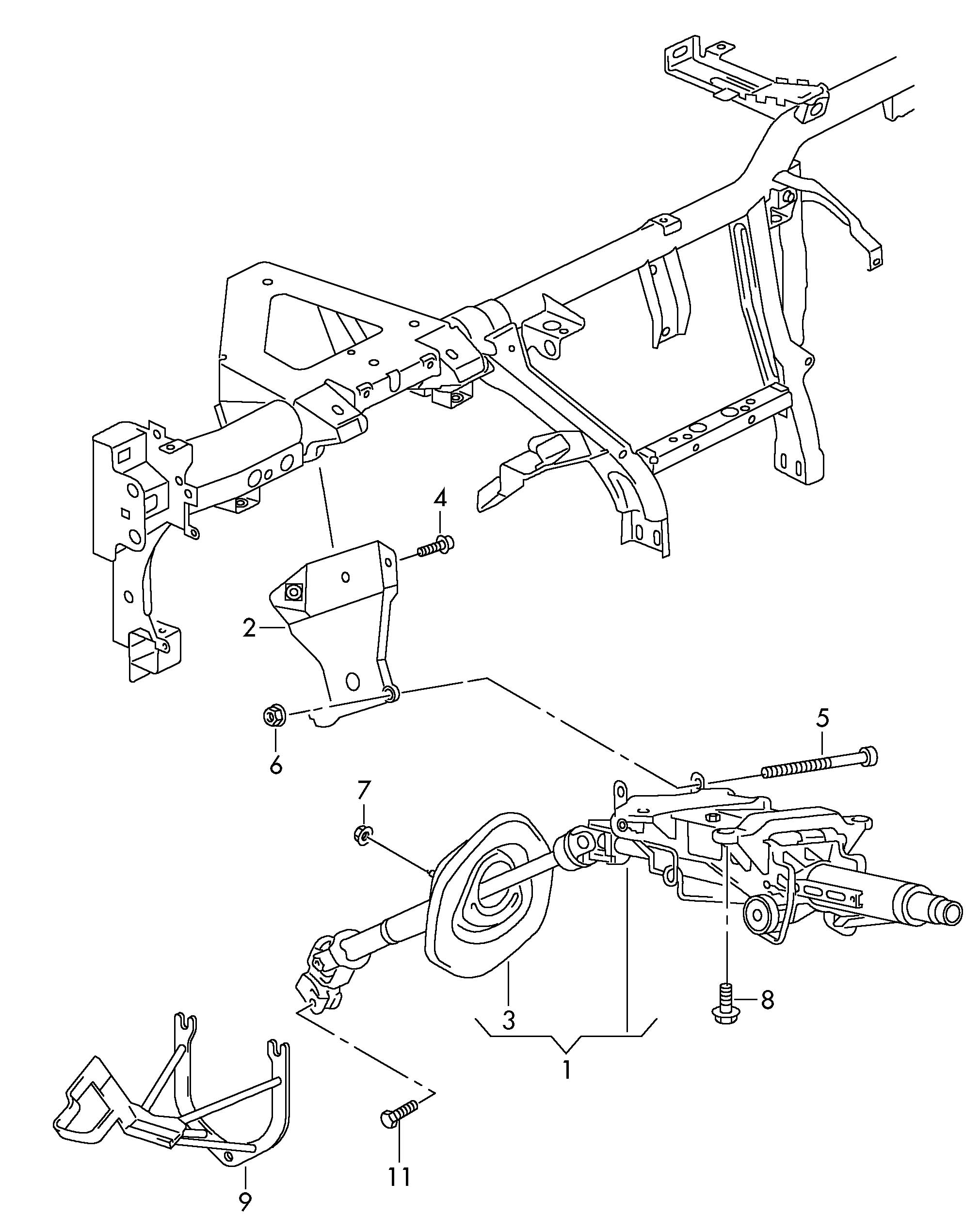 Volkswagen Touareg Steering Column