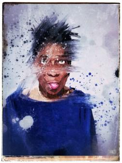 Devil in a Blue Dress : art print by Jim Faris