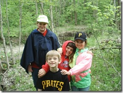 Hiking through my old woods with the kids