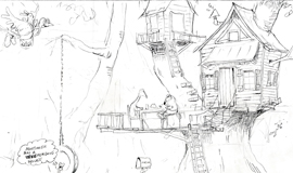 house in the tree coloring page of a tree house picnic at mort
