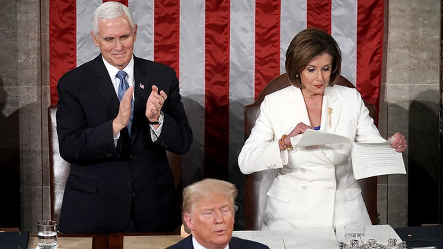 Trump Uses SOTU Speech To Appeal To GOP Base – Pelosi RIPS UP His Speech