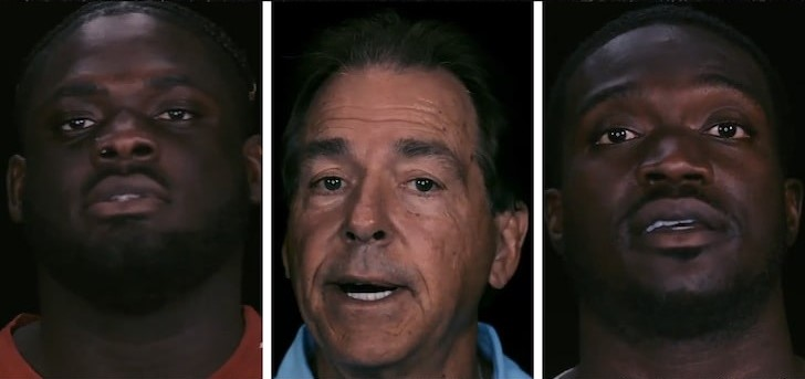 """Alabama, Nick Saban Drop Powerful Black Lives Matter Message – """"We Can't Be Silent"""""""