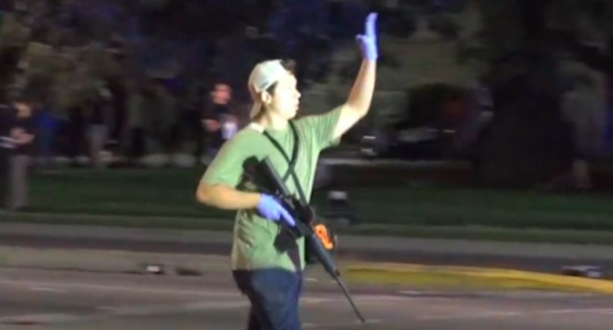 Protesters MURDER Of Gunman FRONT  Two Charged BLM With Sat