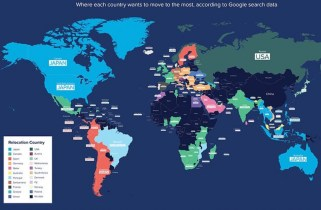 MAP: A Majority Of The World Would Like To Move To Canada – Americans Pick Japan