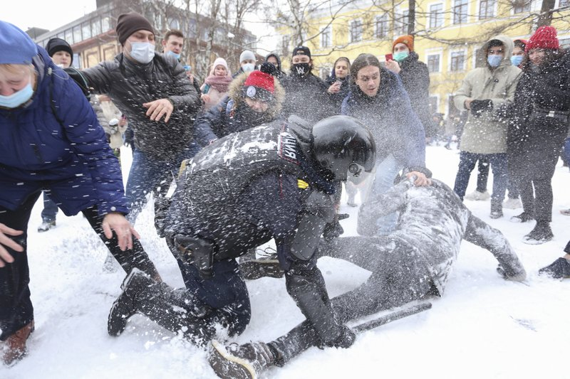 Russian Thug Putin Arrests Over 5,100 During Mass Protests In Support Of Opposition Leader