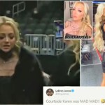 The King Versus The Karen – LeBron In Furious Clash With Glammed-Up Hawks Fan