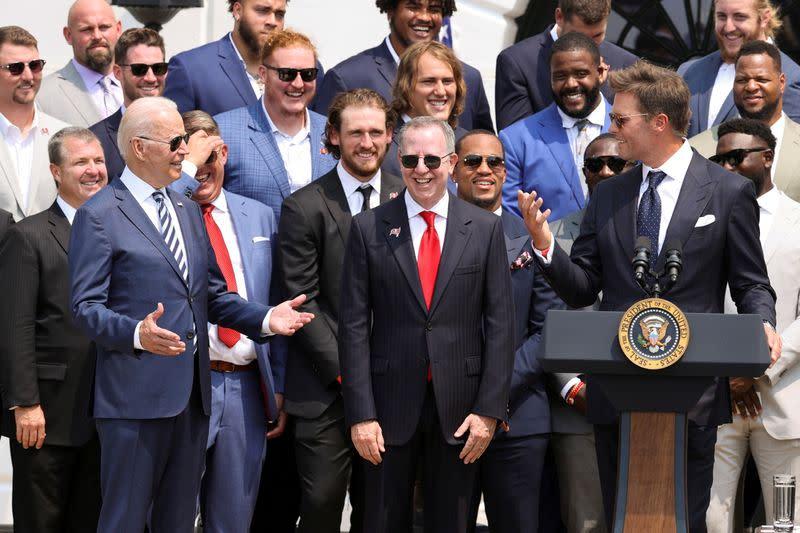 Tom Brady MOCKS Trump & Election Deniers In White House Visit With Biden