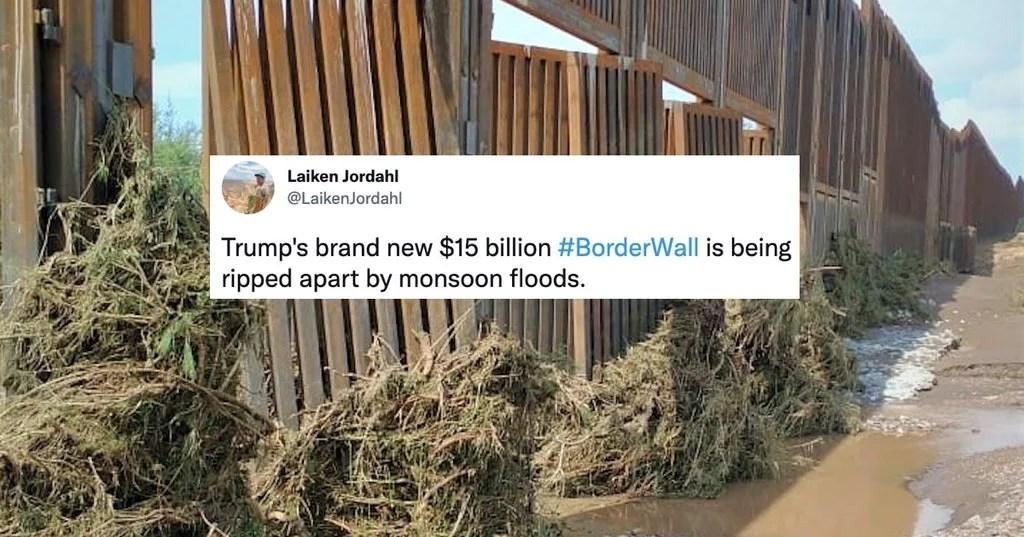 Arizona's Monsoon Rains Rip Apart Trump's 'Indestructible' Border Wall