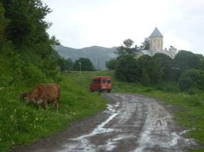 arrival at Mravaldzali Church