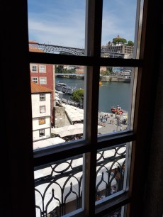 The view from my hotel window in Porto.