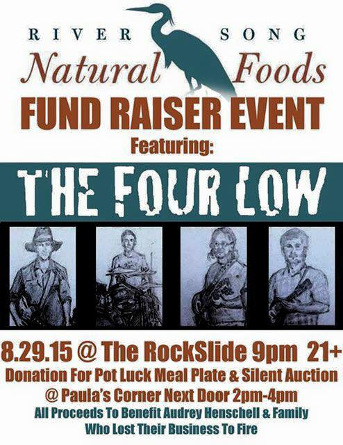 """River Song Natural Foods – """"The RockSlide"""" Fundraiser featuring """"The Four Low"""""""