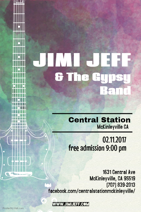 Jimi Jeff @ The Gypsy Band at Central Station Sat Feb 11, 2017