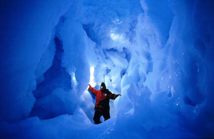 Convoluted ice cave.