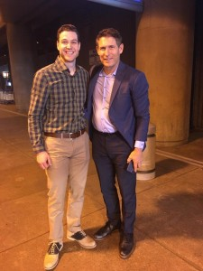 jimmer and Steve young at LDS conference for young people