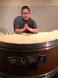 Adam at COSI at the News Desk.