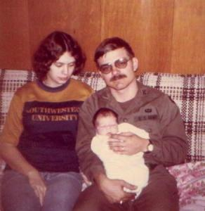 Benita, Jimmie, and Kristopher Kepler 1977