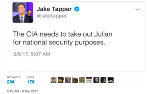tapper take assange out