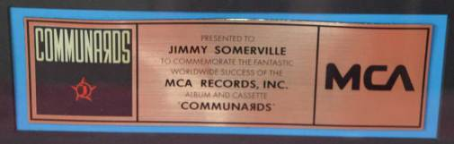 MCA - US Sales Award The Communards