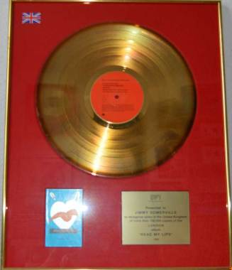 BPI Sales Award Jimmy Somerville Read My Lips Disk