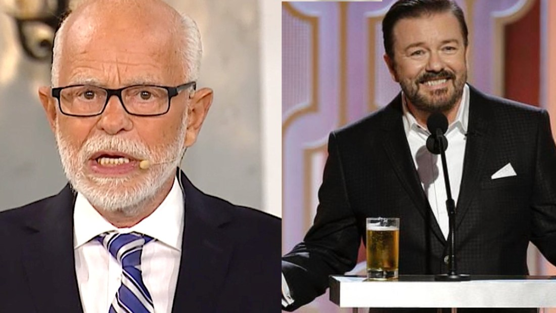 Jim Bakker and Ricky Gervais