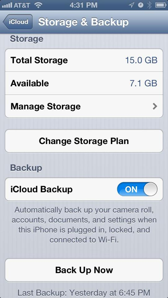 How to check your iOS backup