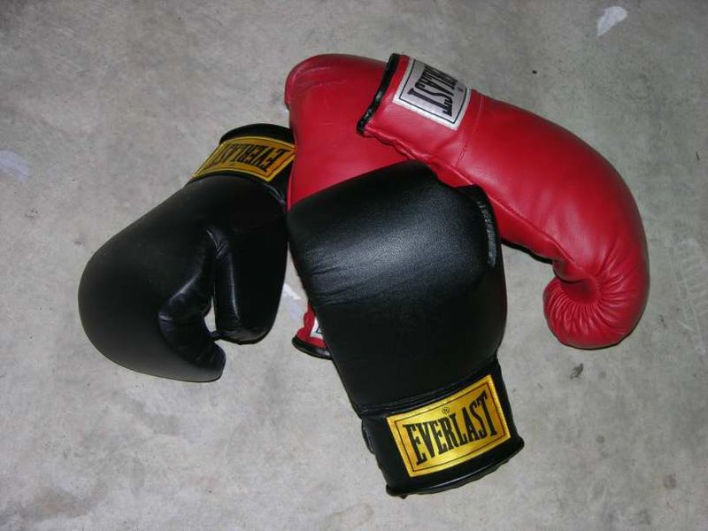 two pairs of boxing gloves