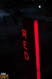RED sign