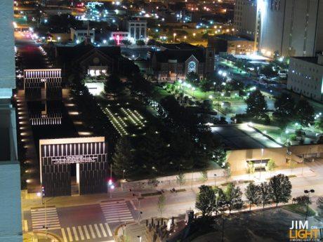 Oklahoma City National Memorial at Night, Above