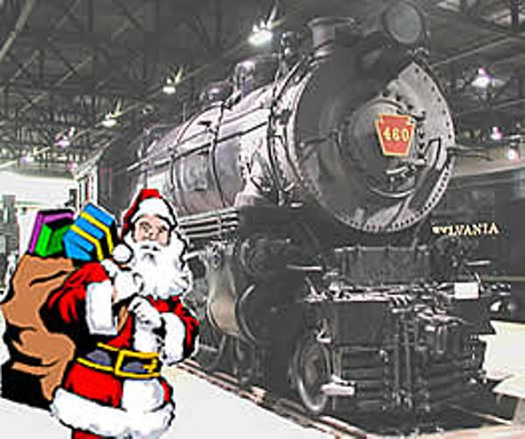 Locomotive 460 with Santa