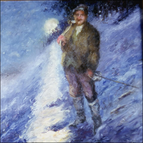 Man on snow.
