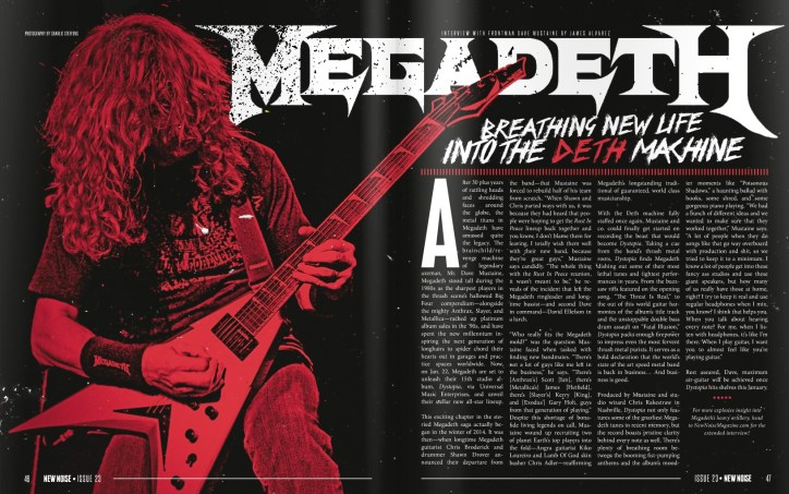 Megadeth interview. Issue 23