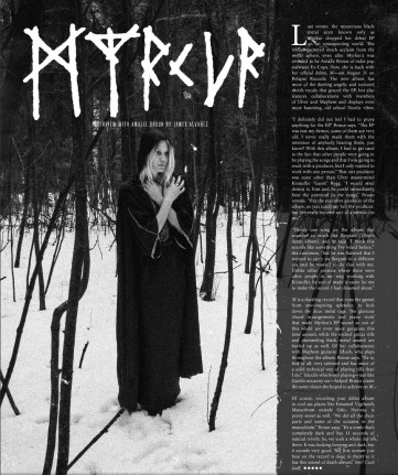 Myrkur interview. Issue 19
