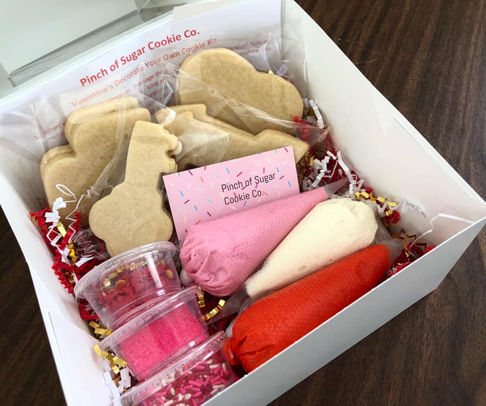 Pinch of Sugar Cookie Company - valentines day cookie box
