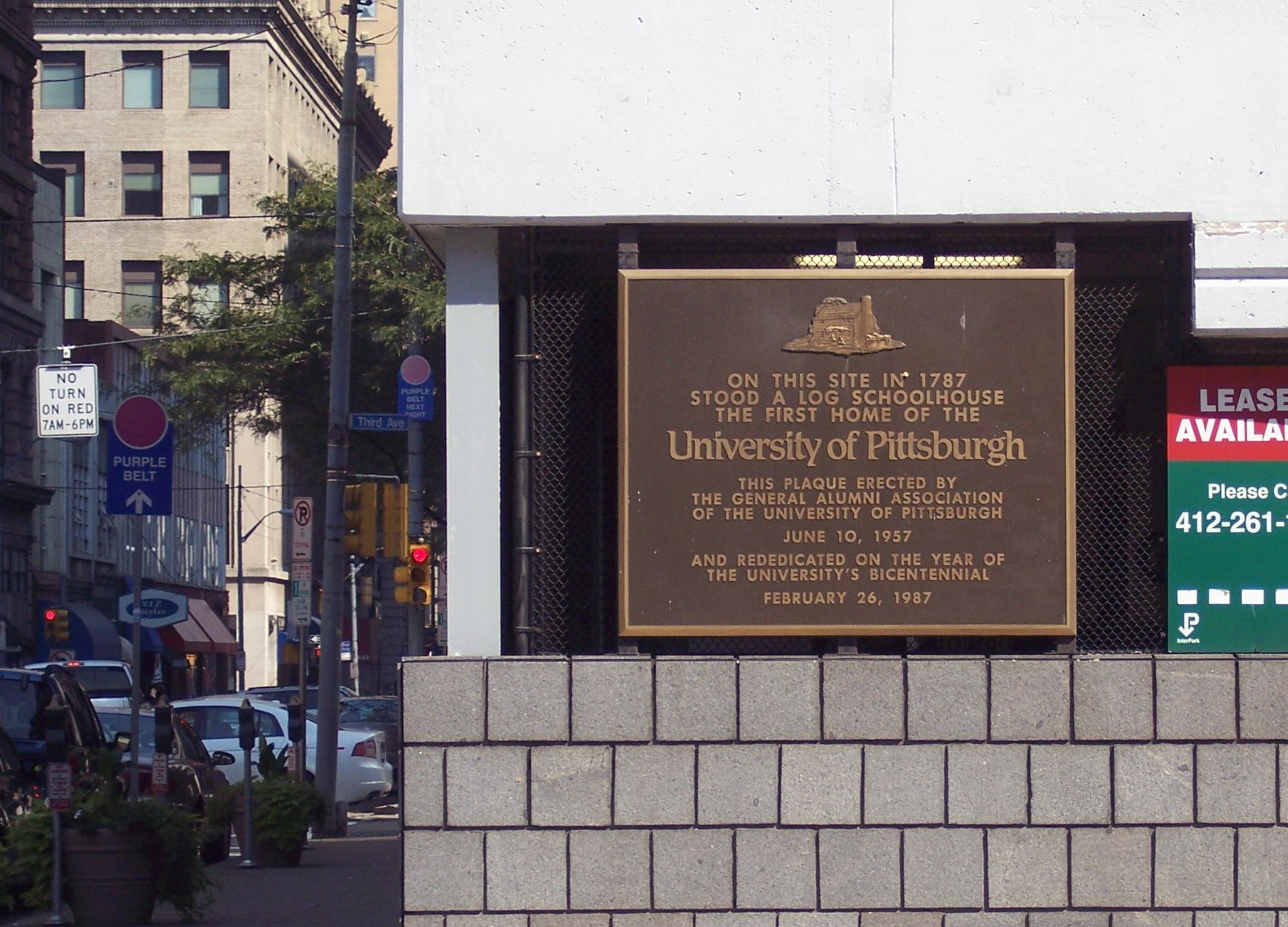 Original site of Pitt