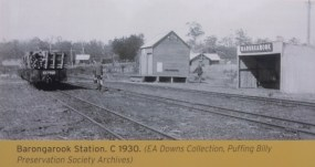 Historical photo of Barongarook station