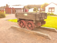 Replica of timber tramway log truck